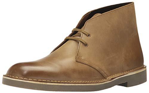 Clarks Men's Bushacre 2 Chukka Boot, dark tan leather, 10.5 Medium US