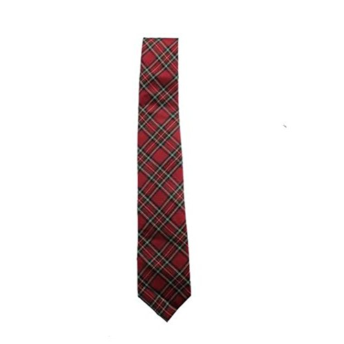 Tommy Hilfiger Mens Traditional Tartans Silk Printed Neck Tie Red O/S