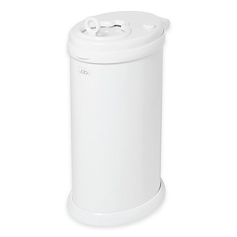 Ubbi® Diaper Pail in White Sleek and Contemporary Look