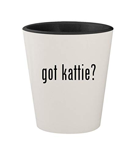 got kattie? - Ceramic White Outer & Black Inner 1.5oz Shot Glass