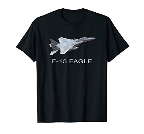 (F-15 EAGLE FIGHTER PLANE JET T SHIRT)