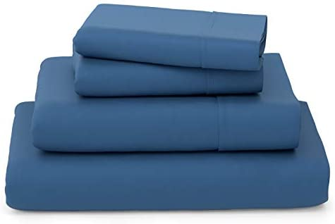 Cosy House Collection Luxury Bamboo Bed Sheet Set - Hypoallergenic Bedding Blend from Natural Bamboo Fiber - Resists Wrinkles - 4 Piece - 1 Fitted Sheet, 1 Flat, 2 Pillowcases - Cal King, Royal Blue