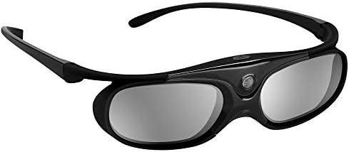 BOBLOV 3D Gafas Activas de Obturador, 96-144Hz 3D Gafas DLP-Link para DLP Proyector Optoma/BenQ/Sharp/Acer/Samsung/Mitsubishi/ViewSonic/LG ect (Negro)