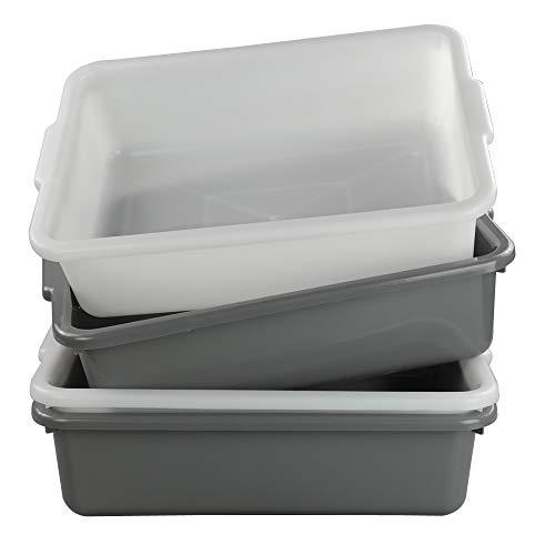 Nicesh 4-Pack 13 L Plastic Commercial Bus Tub, Wash