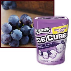 Ice Breakers Ice Cubes Sugar Free Chewing Gum, Arctic Grape, 40 pcs (Pack Of 2) - Urban Platter