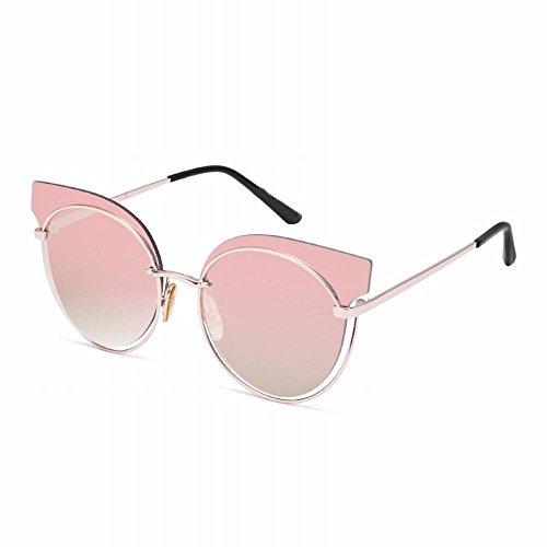 redondas Un Gafas del mujeres huecas sol del de AN do de Gafas de metal gato del Gafas sol ojo de estilo punky do las tamaño qUZqw6