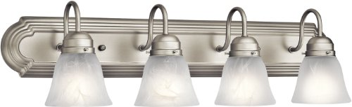 Kichler 5338NI Bath 4-Light, Brushed Nickel