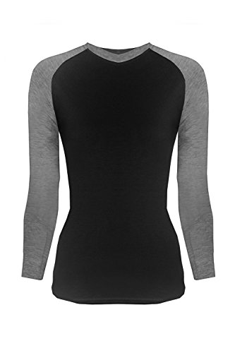 G2 Chic Women's Long Sleeve Crewneck Layer T-shirt for Medical Scrubs(TOP-MED,BLKA3-S)