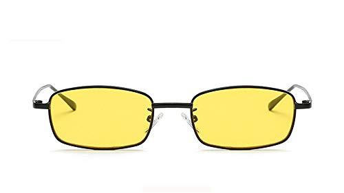 Diseñador para Gafas Gafas Mujeres Marco Marca B de de pequeñas de Sol 2018 Cuadrado Rectángulo B de Hombre UV400 Hembra Sol Metal la KOMNY Gafas vTYzqHq
