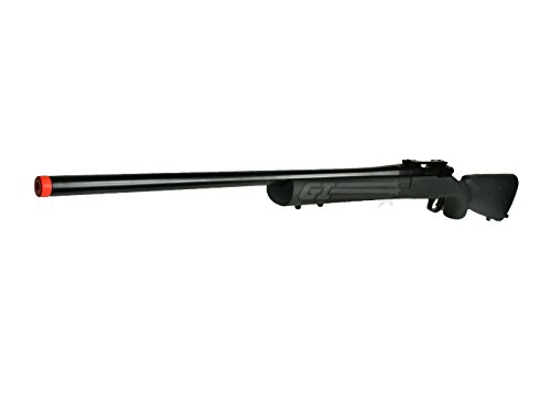 KJW Full Metal M700 Quick Take Down Gas Powered Bolt Action Sniper Rifle (Black) (Gas Powered Sniper Rifle Airsoft)