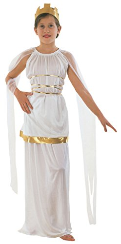 Extra Large White & Gold Girls Grecian Costume (Roman Girl Costume)