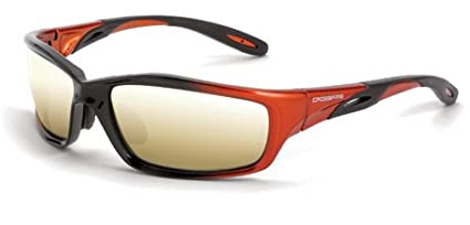 3c8d275f7ce Image Unavailable. Image not available for. Color  12 Pack Crossfire 2812 Infinity  Safety Glasses Gold Mirror Lens - Orange Black Frame