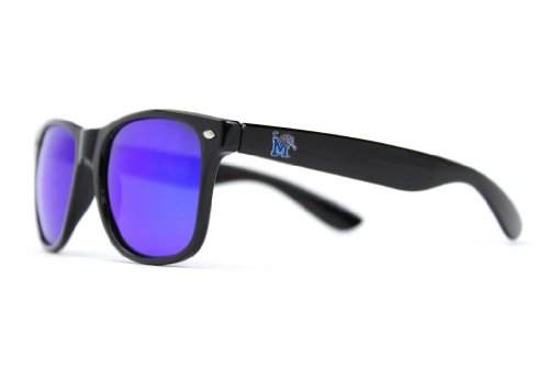NCAA Memphis Tigers  Mem-3 Black Frame, Blue Lens Sunglasses, Black, One - Mem Sunglasses