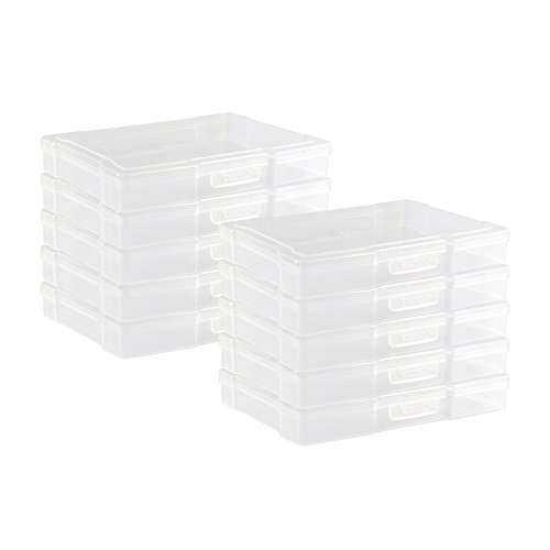 Novelinks Transparent 4 x 6 Photo Storage Boxes - Photo Organizer Cases Photo Keeper Picture Storage Containers Box for Photos - 10 Pack (Clear)