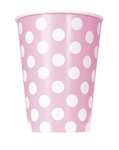 para cumplea/ños bautizos fiestas. desechables bodas nacimientos color rosa con lunares Takestop Juego de 72/vasos de papel para fiestas