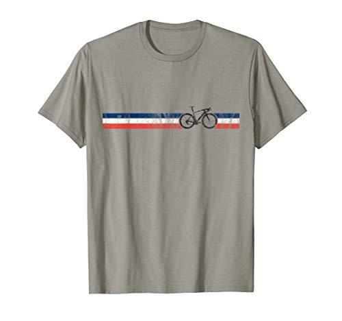 Cyclist Flag France T-Shirt French Bike Racing Cycling Tee ()