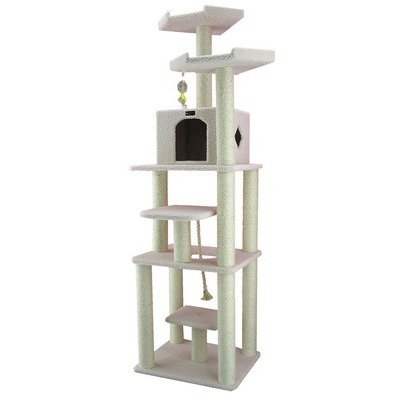 78″ Classic Cat Tree in Ivory, My Pet Supplies