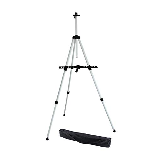 Artist Easel, Ohuhu Aluminum Field Easel Stand with Carrying Bag for Table-top/Floor, Art Easels with Adjustable Height from 21-Inch To 66-Inch, Back To School Art Supplies