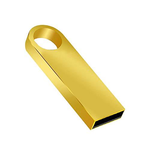 Lee Lam USB C Thumb Drive USB C Flash Drive USB 3.0 Type C Waterproof Thumb Drive, Dual Drive Memory Stick with Keychain for Data Storage,Gold,256MB
