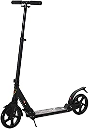 Soozier Teens Adult Adjustable Pro Kick Scooter Foldable Ride On Bike 3 Level Height with Brakes and Kickstand