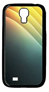 Abstract Light Yellow and Blue Customized Hard Shell Black Samsung Galaxy S4 I9500 Case By Custom Service Your Perfect Choice Kimberly Kurzendoerfer