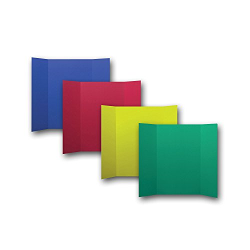 Pack of 24 Assorted Primary Color Corrugated Project Boards - 6 each green, yellow, red, blue (1 Ply; 36x48in) by Flipside