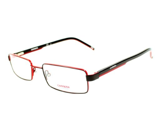 Red Eyeglasses Noir New Men Carrera 50mm Rx White Black Wzr Ca7571 Authentic Rouge R4tqg