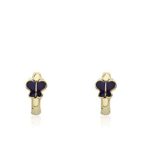 - Little Miss Twin Stars Kids Earring - 14k Gold-Plated Huggy Earring - Hypoallergenic And Nickel Free For Sensitive Ears