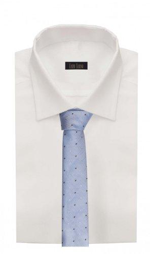 Étroit Cravate de Fabio Farini à pois en bleu noir