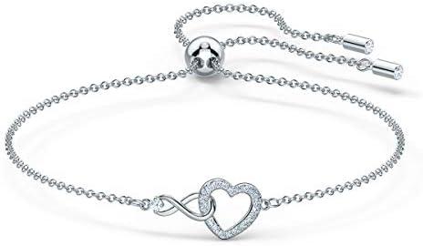 Amazon.com: Swarovski Infinity Heart Bracelet with White Crystals ...
