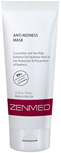 ZENMED Anti-Redness Mask - 2.5 oz. Alleviates Redness Rosacea & Sensitive Skin Conditions With Botanical Extracts & Certified Organic Aloe