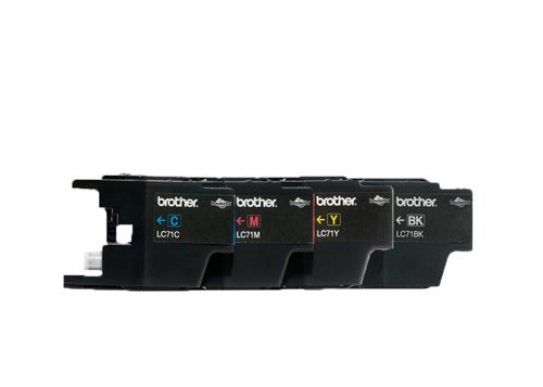 Genuine Brother LC71 Cartridge 4 Pack