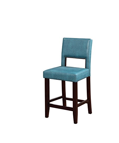 Linon Vega Counter Stool, Aegean Blue Las Vegas Steel Stool