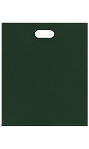 Large Low Density Dark Green Merchandise Bags - Case of 500 by STORE001