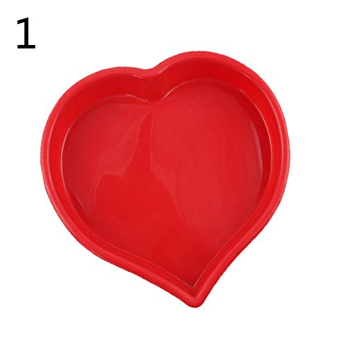 Heart Candy Molds Love Heart Muffin Pan Pizza Bread Baking Silicone Molds Diy Fondant Chocolate Candy Cookie Sugar Pudding Mould Cake Baking Tool