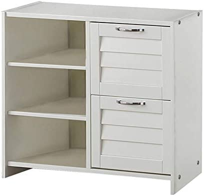 Donco Kids Louver 2 Drawer Chest Shelves White