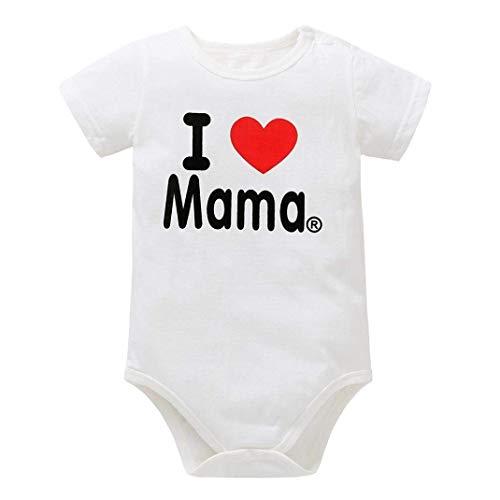 Price comparison product image Newborn Romper Toddler Baby Kid Boy Girl Letter I Love Papa I Love Mama Print Jumpsuit Babies(0-6M I Love Mama)