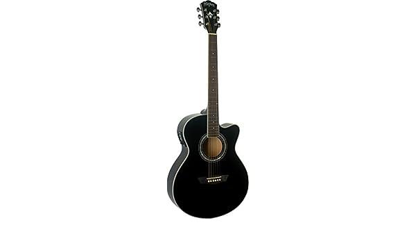 Washburn EA12B Festive Series Mini Jumbo Cutaway guitarra acústica ...