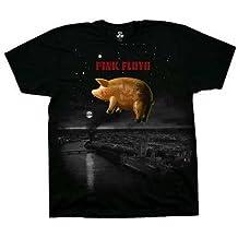 T-Shirt - Pink Floyd - Pig Over London Men's Black Size M