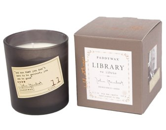 - Paddywax Library Collection John Steinbeck Scented Soy Wax Candle, 6.5-Ounce, Smoked Birch & Amber