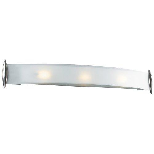 PLC Lighting 1343 SN 3 Light Vanity, Scroll Collection, Satin Nickel ()