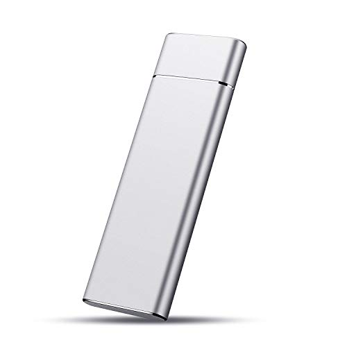 External Hard Drive, Hard Drive Portable Storage Drive Slim External Hard Drive Compatible with PC, Laptop and Mac (1TB, Silver)