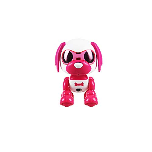 Wotryit Electronic Intelligent Pocket Pet Dog Interactive Puppy - Smart Puppy Robot Dog LED Eye Recording Singing Sleep CuteToy for Age 3 4 5 6 7 8 9 10 Year Old Boys Girls and Kids Gifts(Hot Pink)