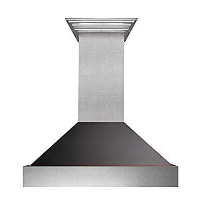 "30"" Snow Finish Range Hood with Oil Rubbed Bronze Shell (8654ORB-30)"
