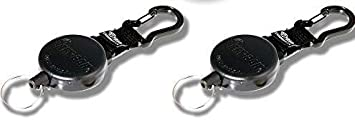 48 inch Kevlar Cord 48//8oz. KEY-BAK SECURIT Heavy Duty Retractable Key Holder 8 oz Retraction Force 2 PACK, Heavy Duty 15 keys