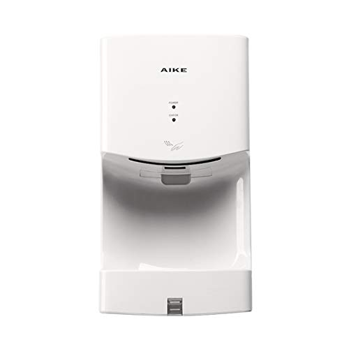 (AIKE AK2630T Hotel Wall Mounted 1400W High Speed Hand Dryer with Drain Tray, ABS Cover (White))