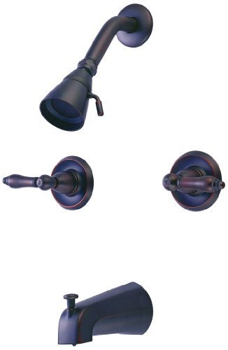 Hardware House 124652 Tub and Shower Mixer Brass and Copper Waterways, Classic Bronze by Hardware House, Inc - DROPSHIP