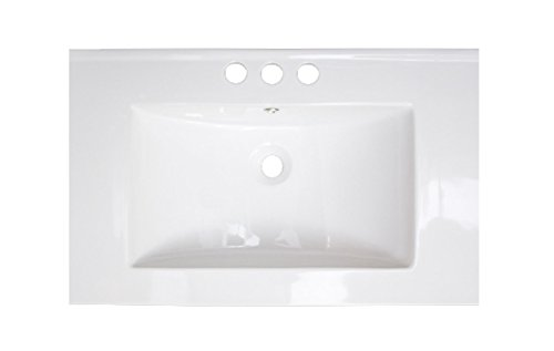American Imaginations AI-3-1200 Ceramic Top for 4-Inch OC Faucet, 30-Inch x 18-Inch, White by American Imaginations
