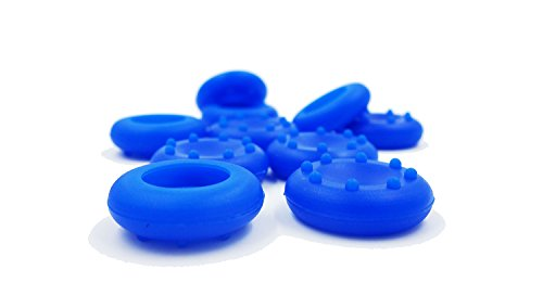 GoldenDeal 5 Pairs (10 Pcs) Blue Silicone Analog Controller Replacement Parts Thumb Grip Cap Cover for PS3 PS4 Xbox 360 Xbox One (Blue Xbox Controller Stick Covers compare prices)