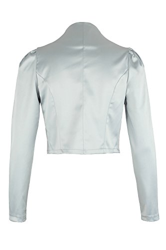 Ao Light Grey Evening Long 4tuality Bolero Satin wvSnqpSfR